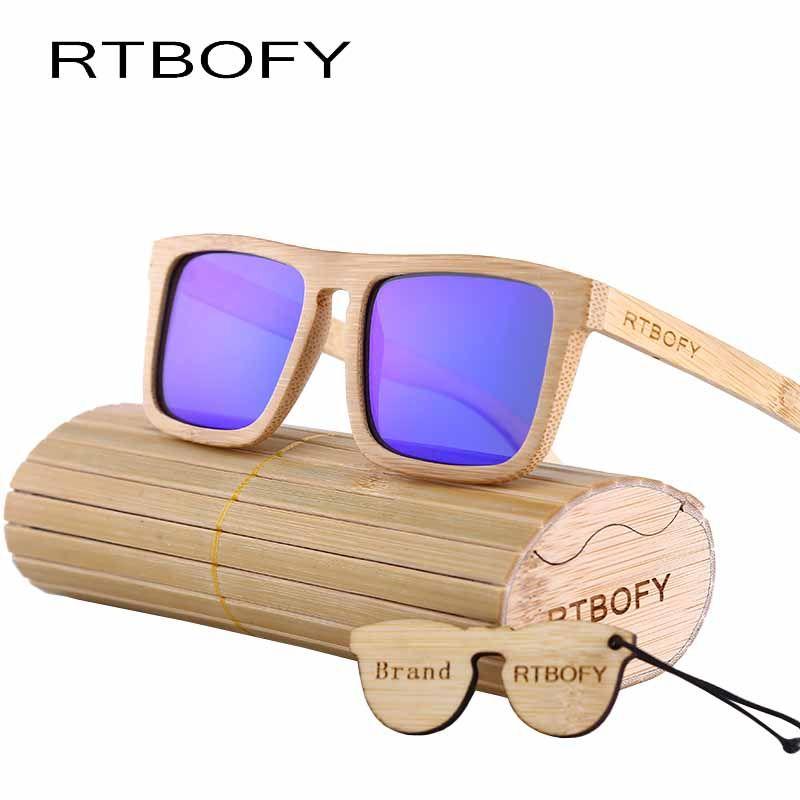acb4687b86 promo rtbofy wood sunglasses polarized sunglasses men real bamboo wood  eyewear mirror lenses wood  polarized  lenses