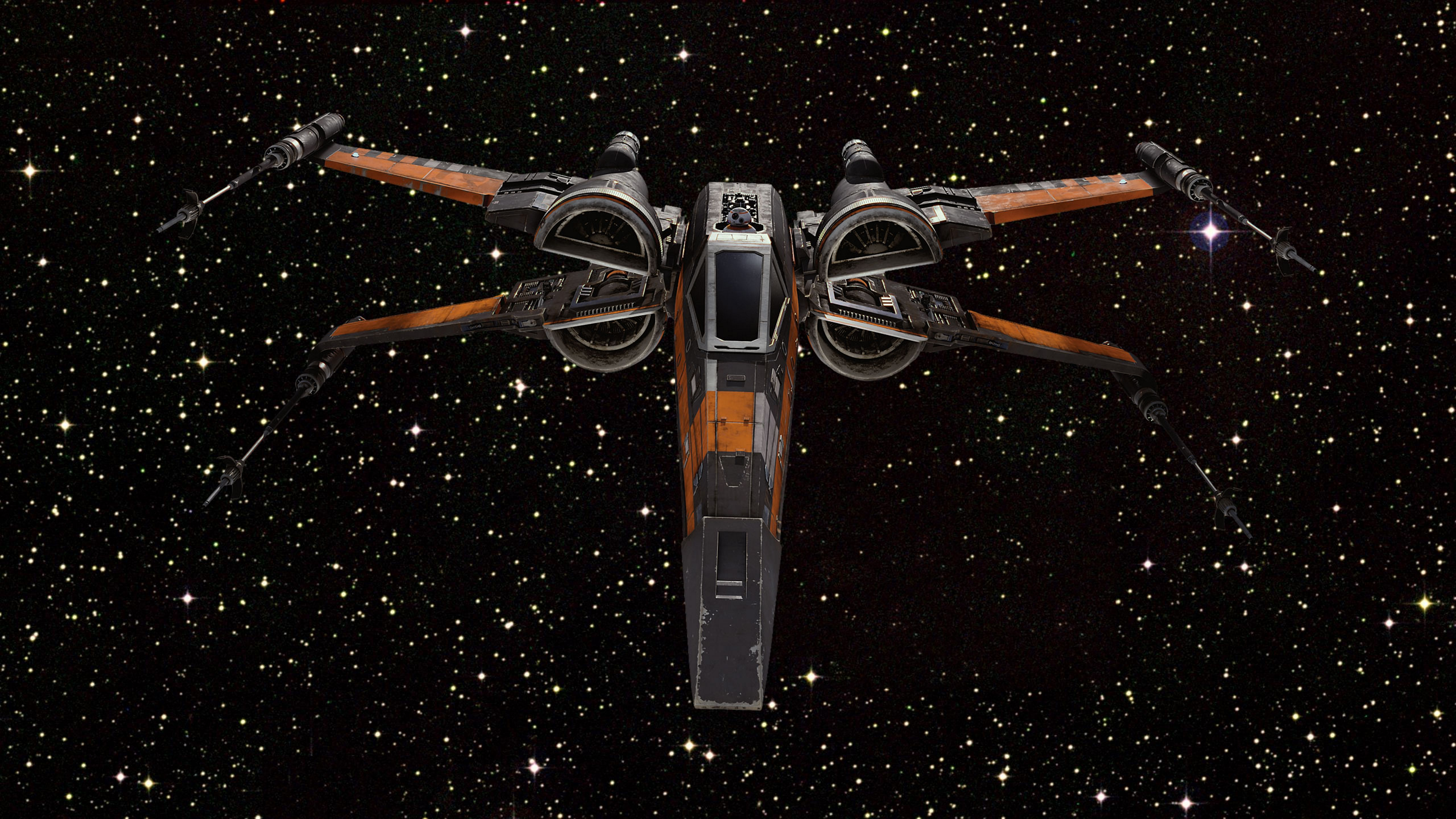 Poe's X-Wing [Hi-Res Textless Wallpaper] by Lightsabered. Star Wars ...