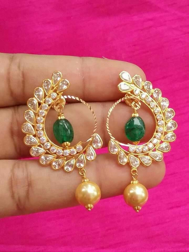 Indian Bollywood Designer Gold Plated Fashion Jewelry Earrings Ethnic P Modern Techniques Fashion Jewelry Earrings
