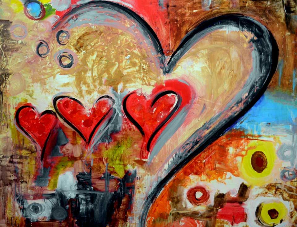 heart paintings in san jose del cabo art district