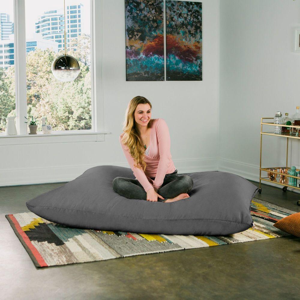Photo of Jaxx 5.5′ Pillow Saxx Bean Bag Chair (Chocolate), Brown, Jaxx Bean Bags