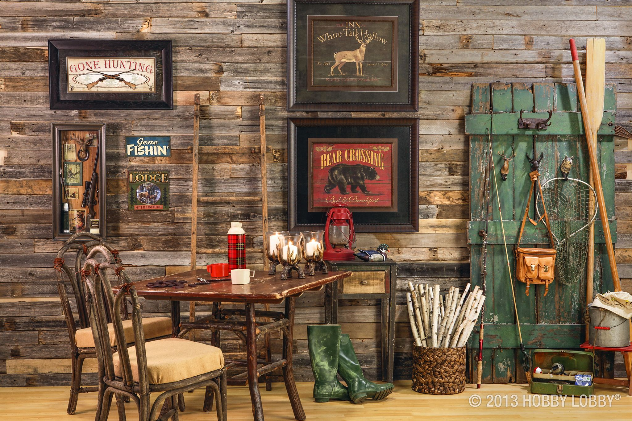 . Rustic Cabin Decor  Makes you want to grab your fishing pole and
