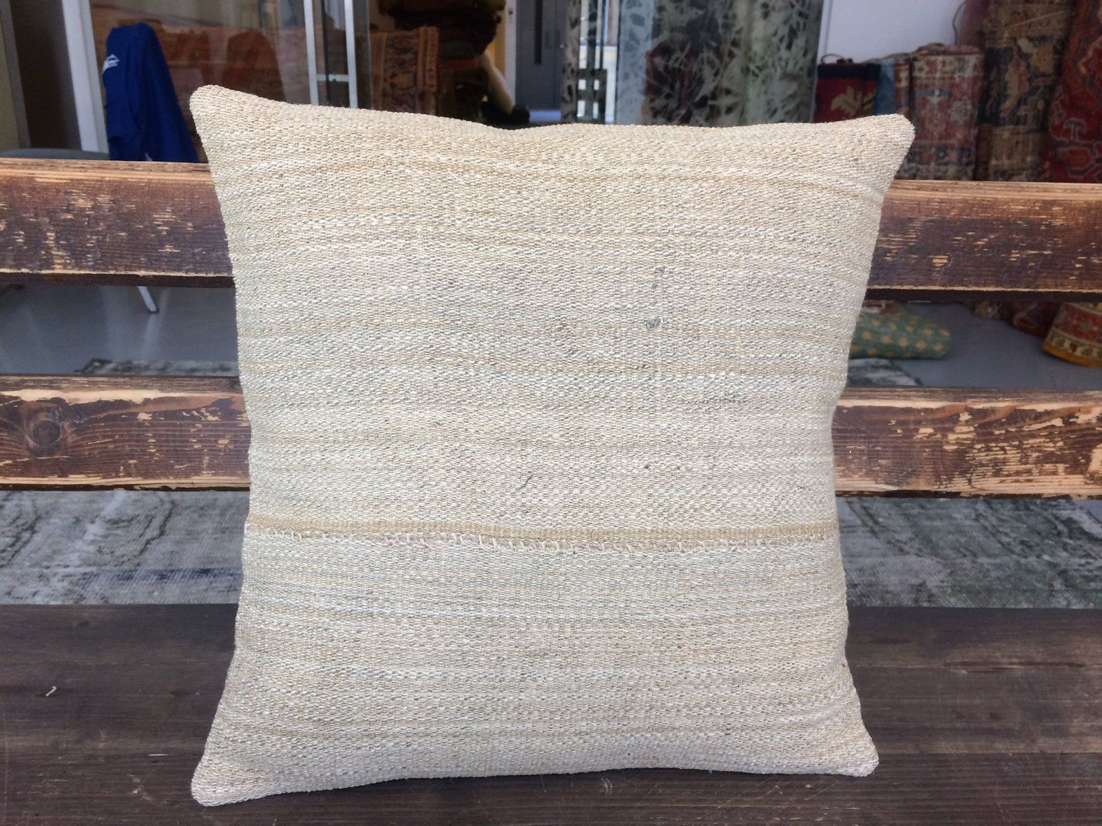 16 X16 Beige Beautiful Handknotted Decorative Pillows Case Only