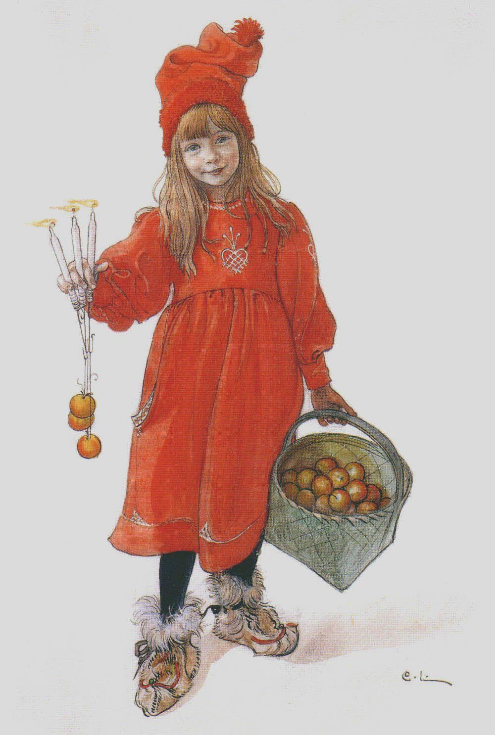 Brita as Iduna [Iðunn] (1901) Carl Larsson (1853–1919).