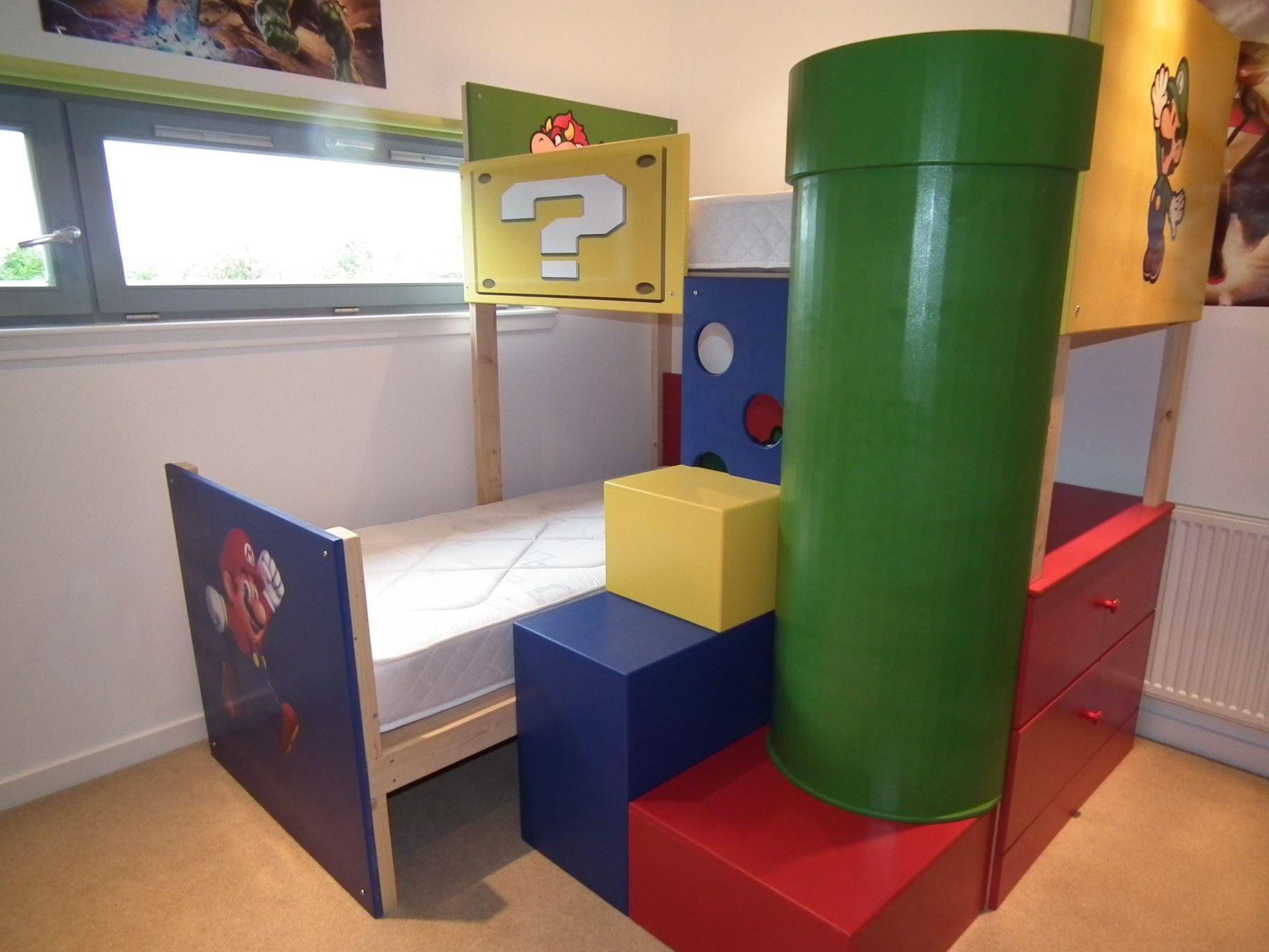 Super Mario Theme Bunk Bed Déco Pinterest