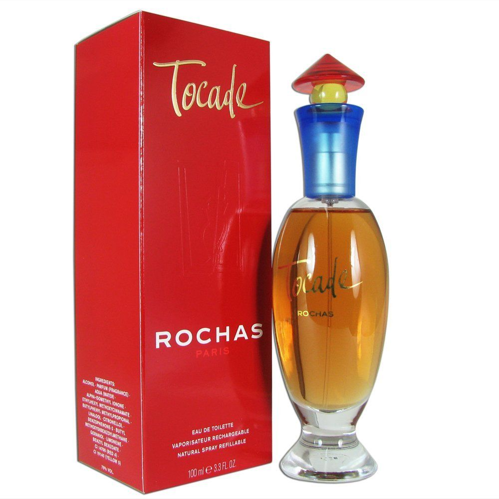 rochas tocade pour femme eau de toilette vaporisateur rechargeable 100ml perfumes. Black Bedroom Furniture Sets. Home Design Ideas