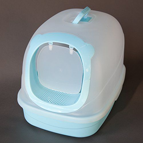 Extra Large Hooded Cat Litter Toilet Box 25l X 18w X 185h