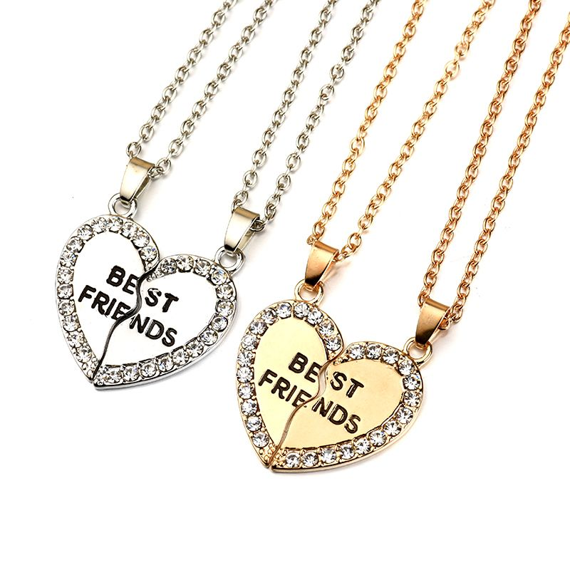 Best friends forever letter pendant necklace charms matching heart cheap accessories wholesale buy quality wholesale jewelry directly from china necklace charm suppliers best friends forever letter pendant necklace charms aloadofball Choice Image