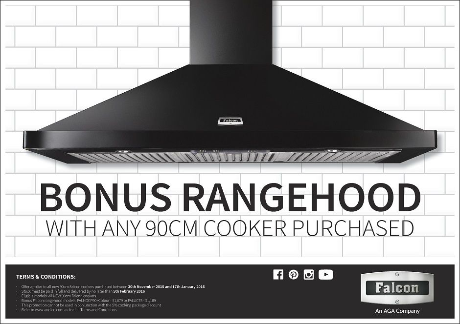 Falcon Ofen falcon free rangehood with our 90cm falcon range cookers buy any