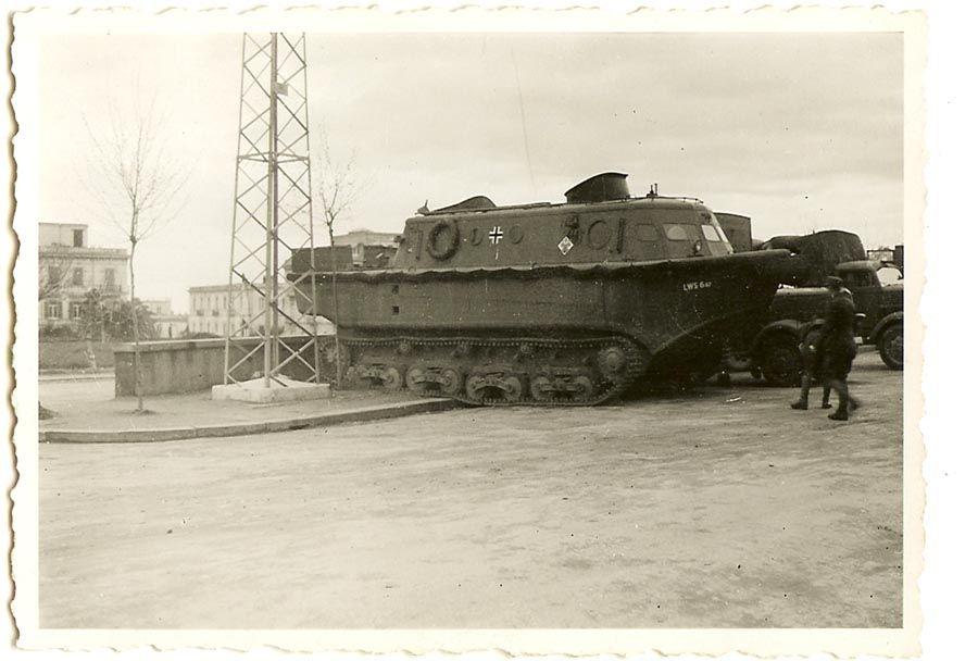A German tracked amphibious tractor (Land-Wasser Schlepper ...