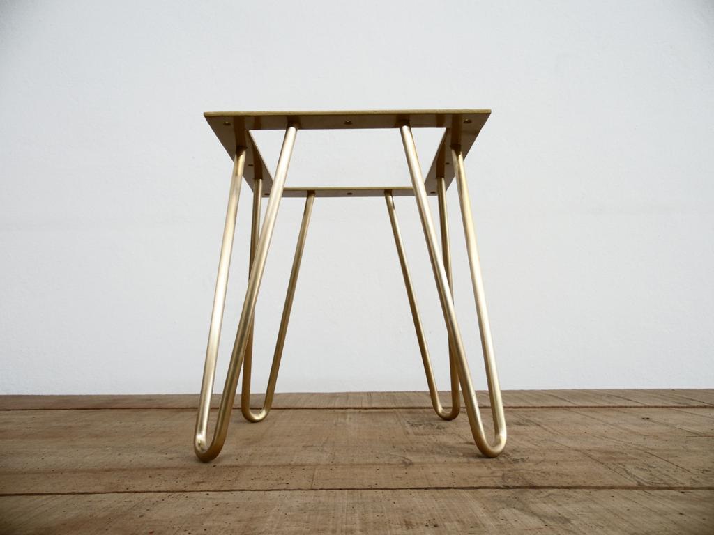 16 Brass Hairpin Ottoman Base Height 12 17 Brass Furniture