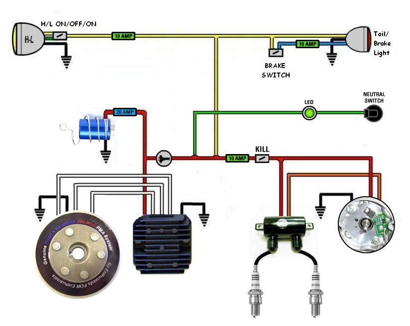 some wiring diagrams page 12 xs650 forum motorcycle 1979 xs650 wiring-diagram xs650 basic wiring diagram #13