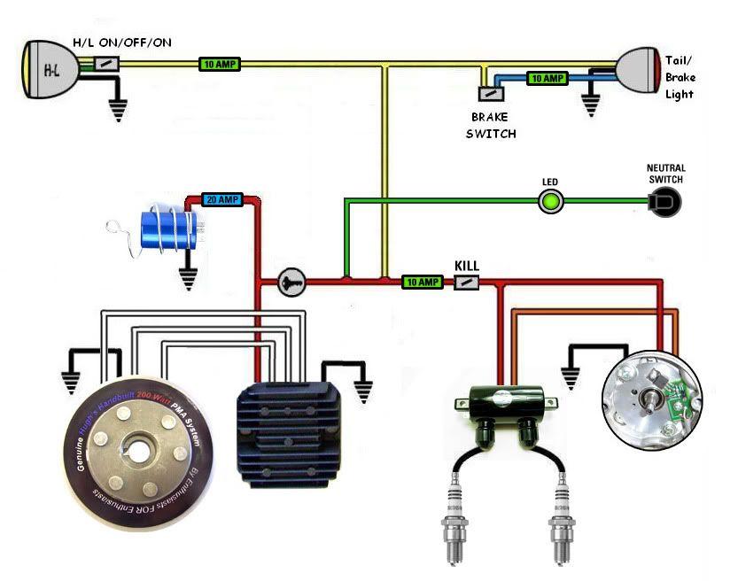 [DIAGRAM_3US]  some wiring diagrams - Page 12 | Motorcycle wiring, Suzuki cafe racer, Cafe  racer | Cafe Wiring Diagram |  | Pinterest