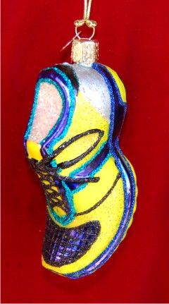 running shoe glass christmas ornament - Shoe Christmas Ornaments