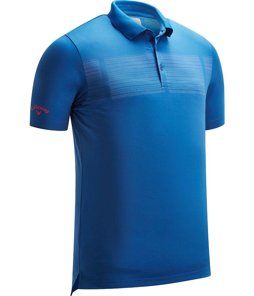 49d8edd61a335 Callaway Mens Birdseye Chest Print Polo Shirt - Golfonline ...