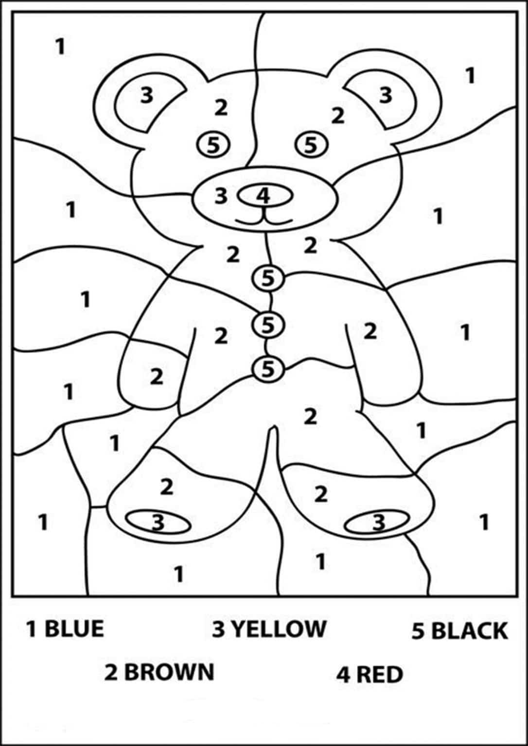 Free Printable Color By Number Worksheets For Kindergarten Kindergarten Colors Numbers Preschool Coloring Worksheets For Kindergarten [ 1536 x 1086 Pixel ]