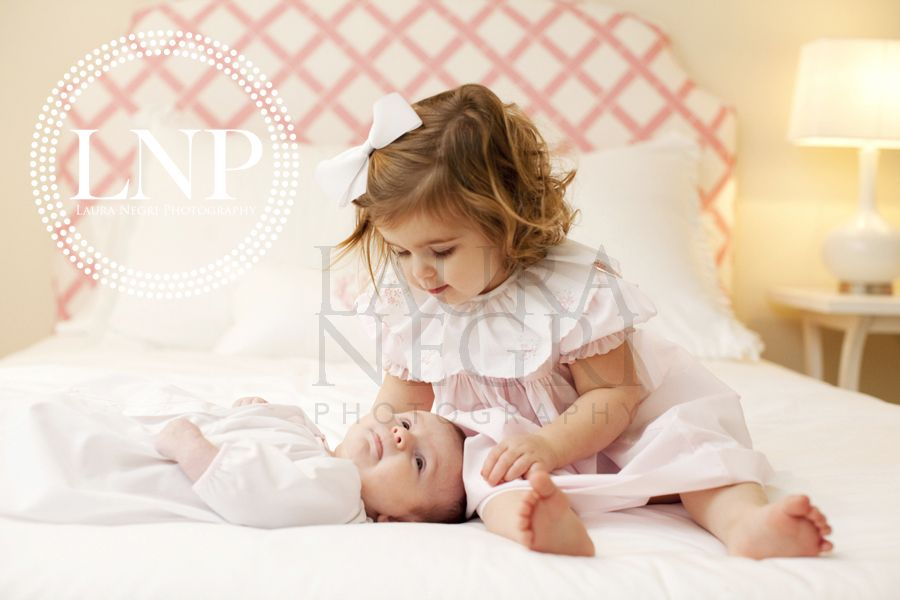 Such a cute new baby big sister pic!