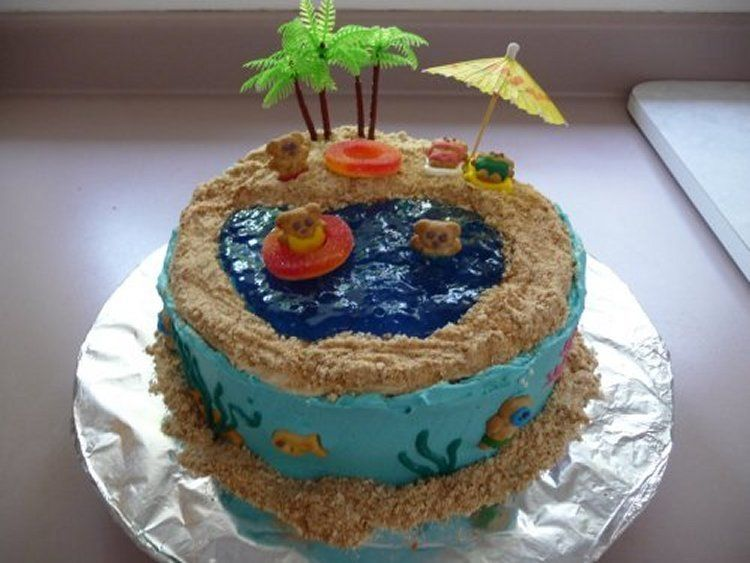 Wanted To Try A New Style Of Cake By Using Jello For Water Instead Of Icing Certainly Different