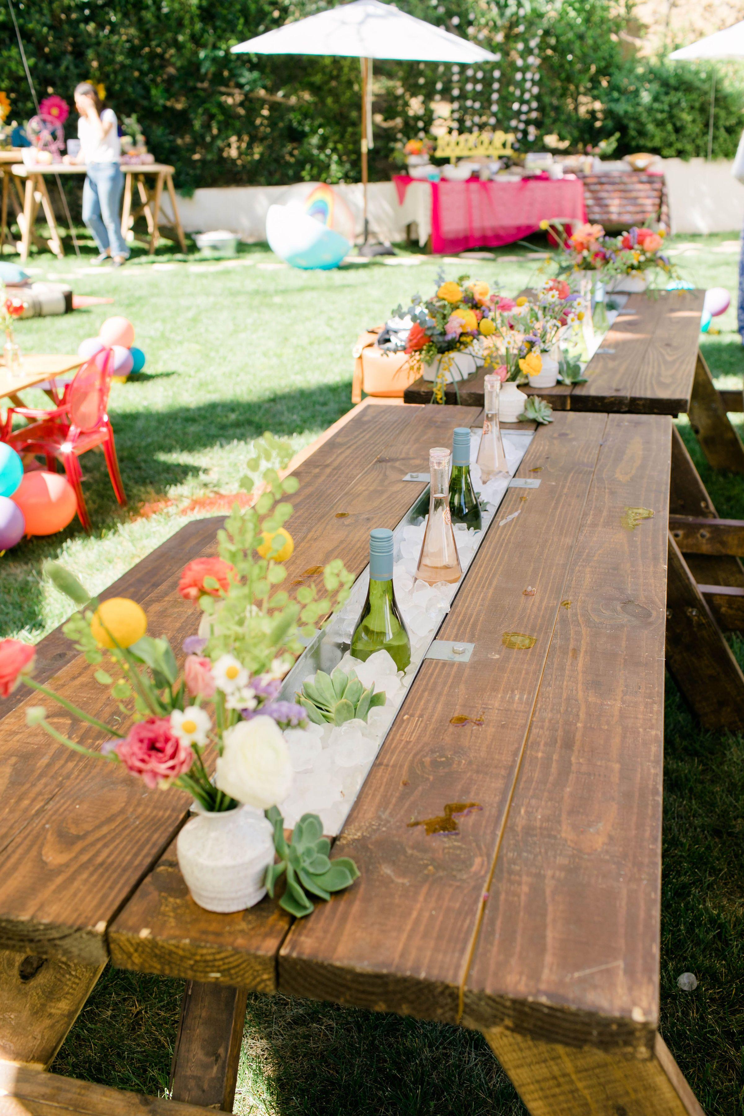 Boho drink table drink table bath table picnic table