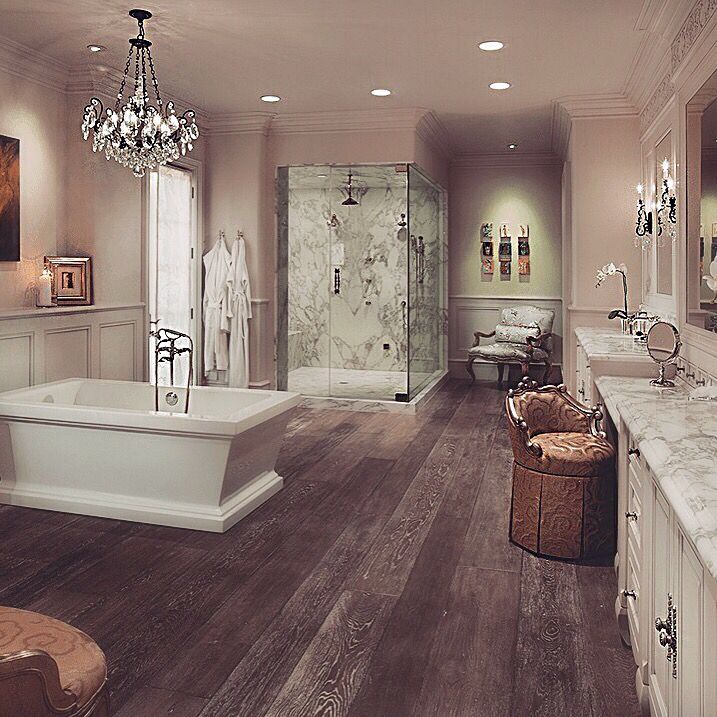 Diane, I think this is a look that your bathroom could easily adapt - baos lujosos