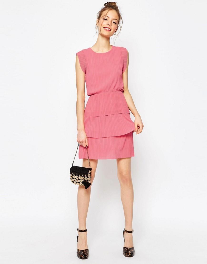 ASOS | Minivestido con diseño plisado de ASOS en ASOS | Vestidos ...