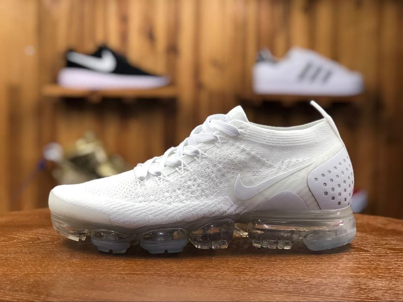 c0166030da952 2018 Nike Air Vapormax Flyknit 2.0 Mens Sport Shoes White 942842-100 ...