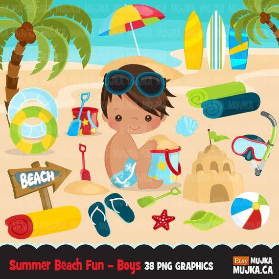 41+ Summer beach fun clipart info