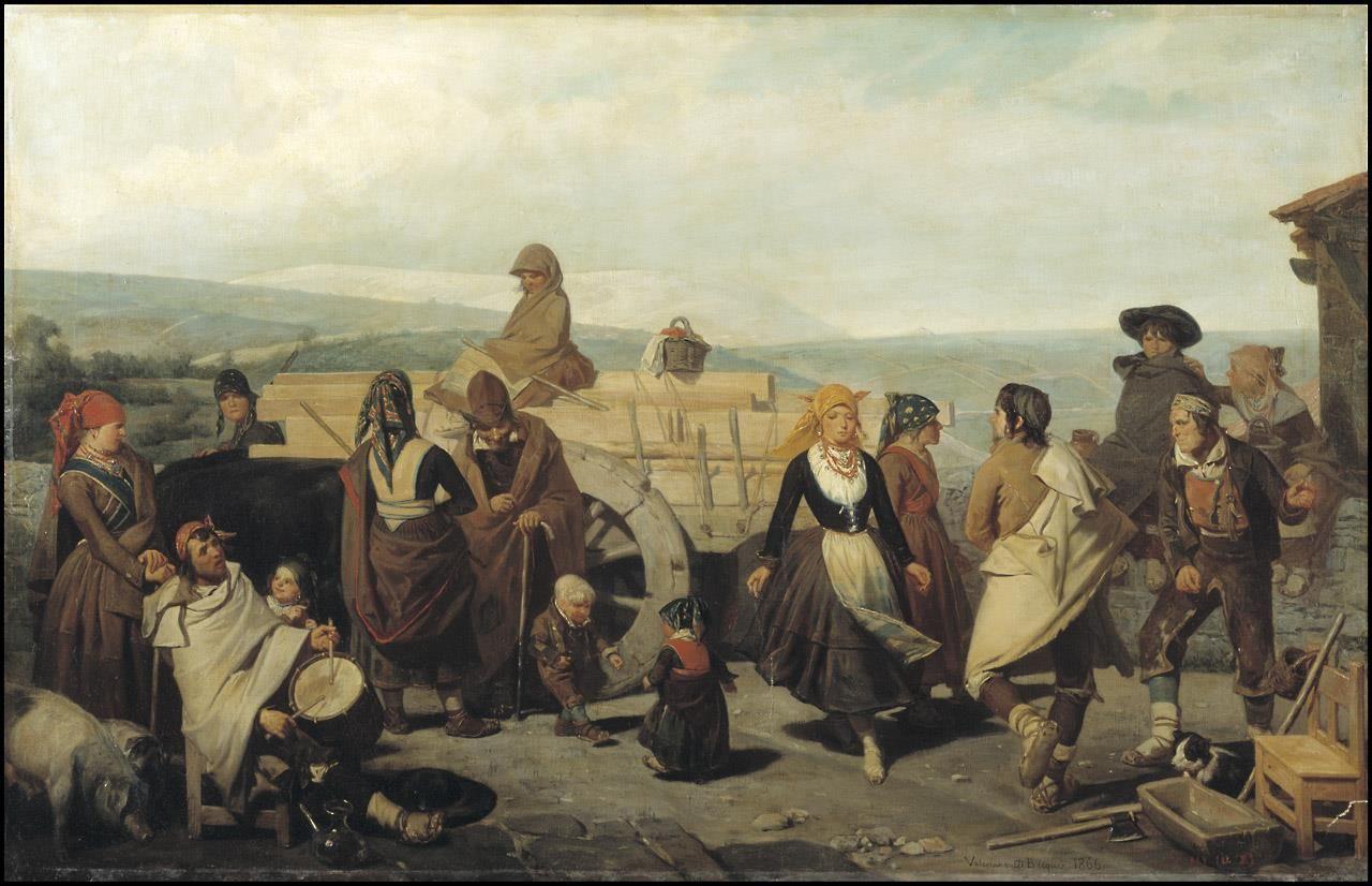 Resultado de imagen de el baile de los campesinos de valeriano becquer