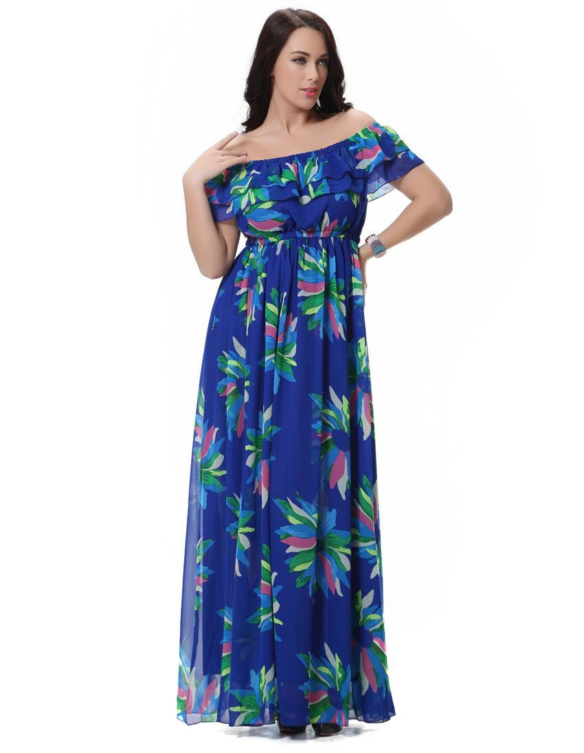 Womenus blue floral printed dress products pinterest products