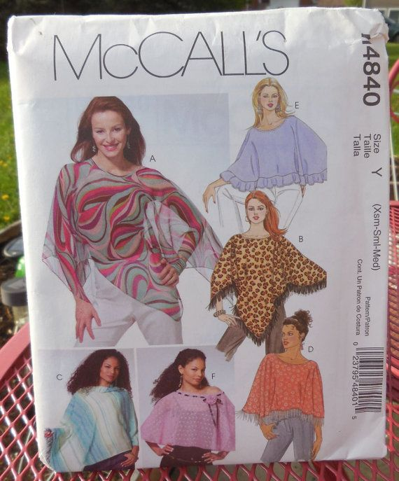 McCalls 4840 Ladies Ponchos & Capelets Classy by Clutterina | Capes ...