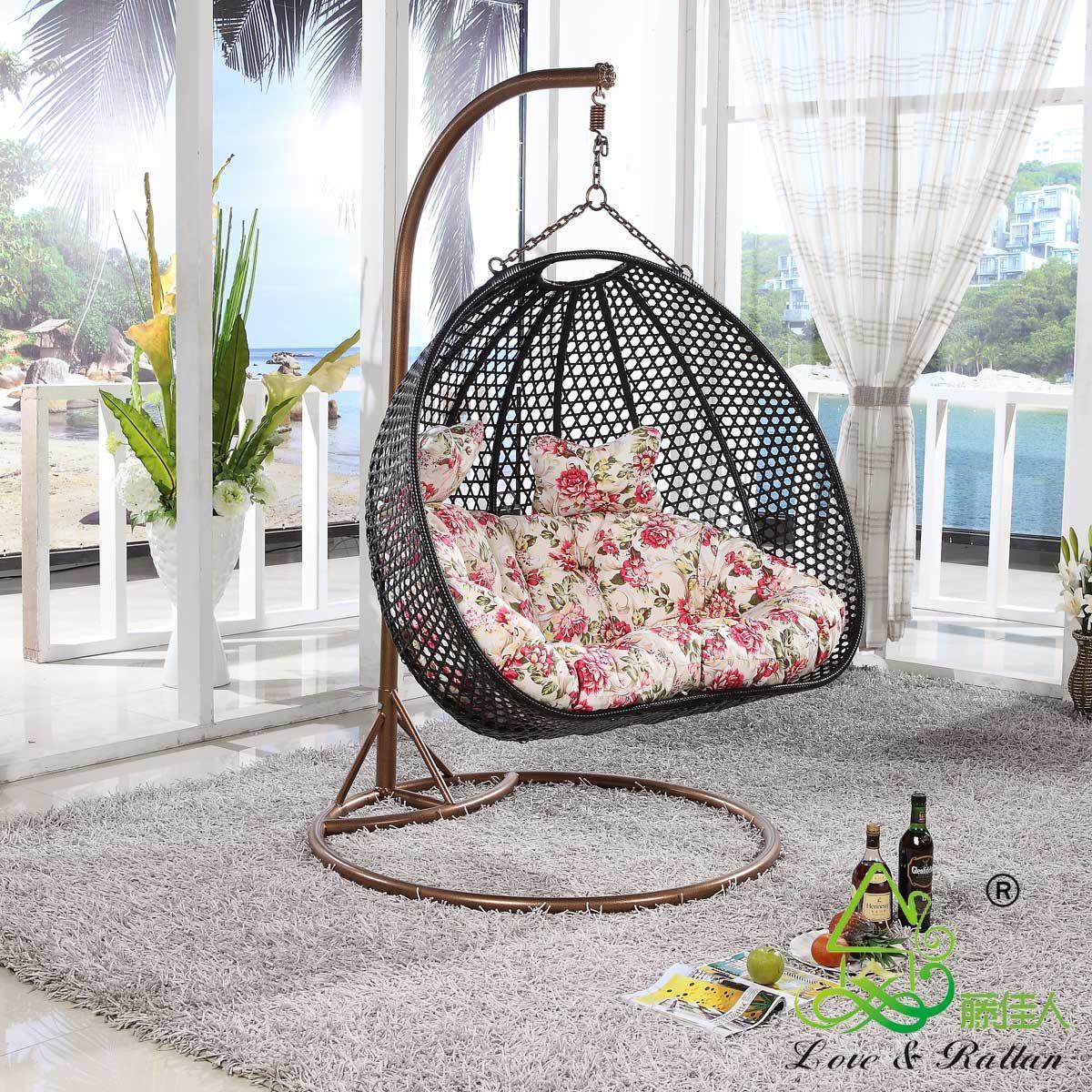 Furniture Rattan Chair Outdoor Swing Hanging Basket