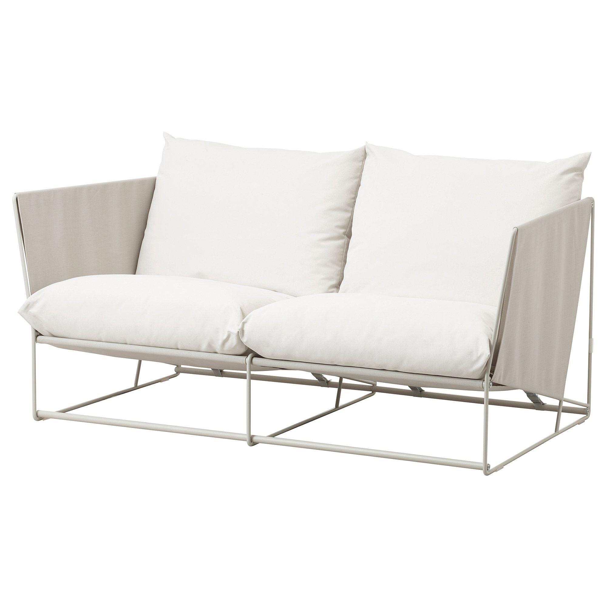 Havsten Loveseat In Outdoor Beige 70 1 2x37x35 3 8 Affordable Sofa Outdoor Seat Pads Ikea