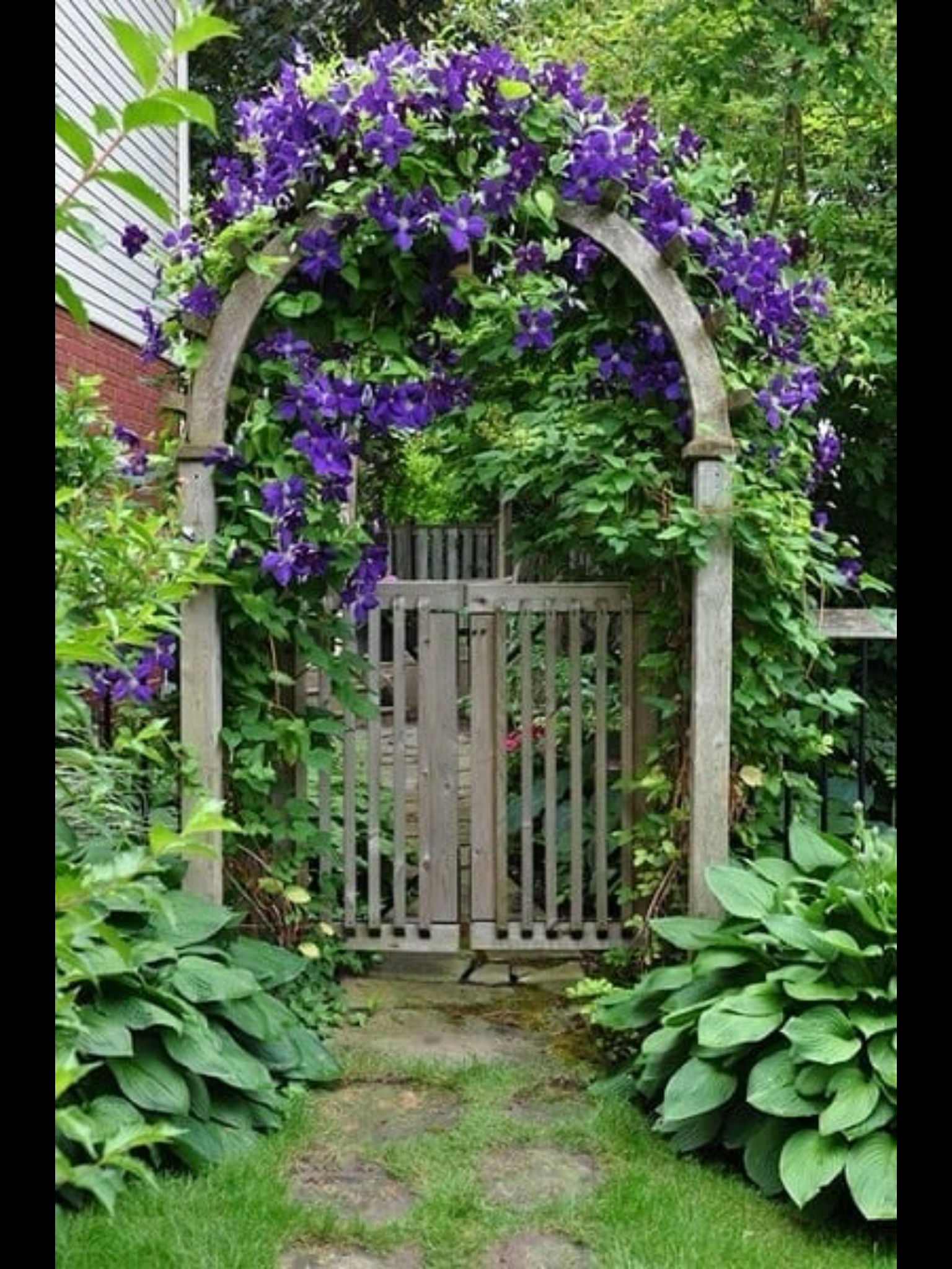Garden gate and landscaping | Garden | Pinterest | Garden gate, Gate ...