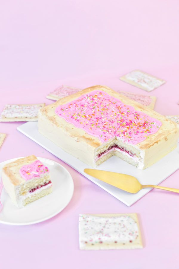 DIY Giant Pop Tart Cake