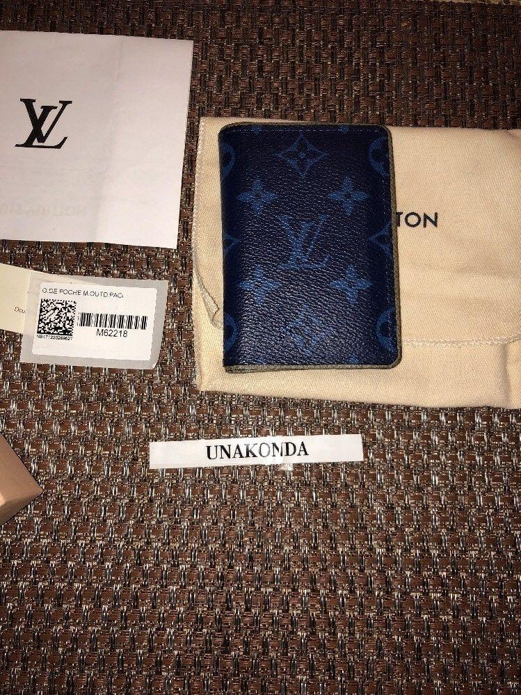 d2c51d4c8b7 Rare Louis Vuitton Monogram Outdoor Pacific Blue Turquoise Pocket ...