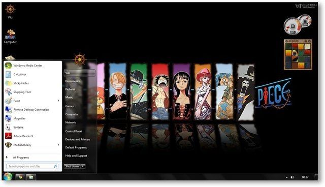 One Piece Theme For Windows 7 and 8 Anime Themes Free Wallpapers - new world time map screensaver free download