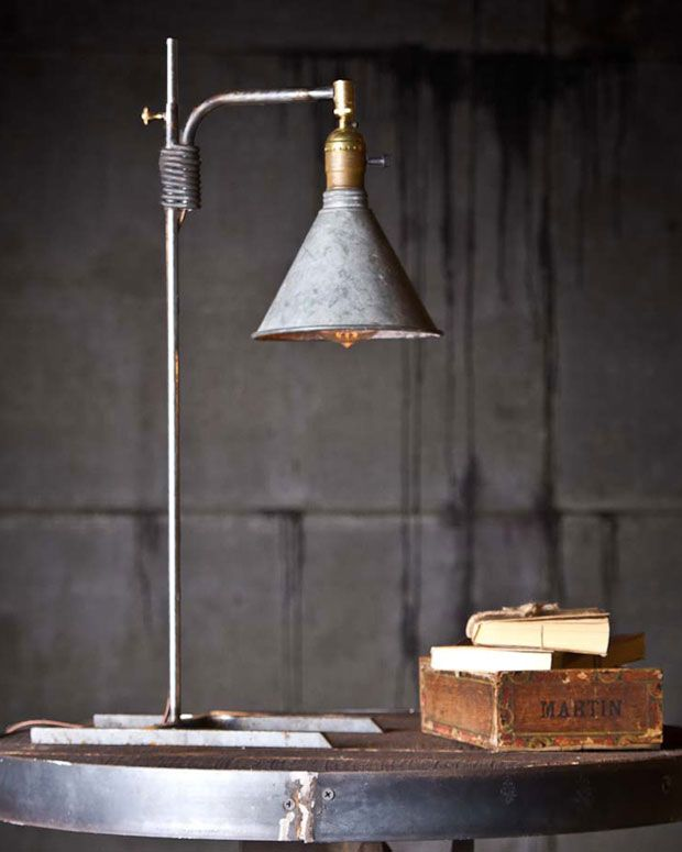 HENRY FUNNEL LAMP   Vintage Home Decor   Rustic Lamp   Industrial Home  Decor  Mike