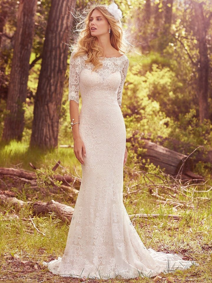 Maggie Sottero Spring 2017 Wedding Dresses | itakeyou.co.uk #mermaidweddingdress #weddingdress #fitandflare #weddinggown #bridalgown #bridaldress #bridedress #mermaiddress #vintage #laceweddingdress