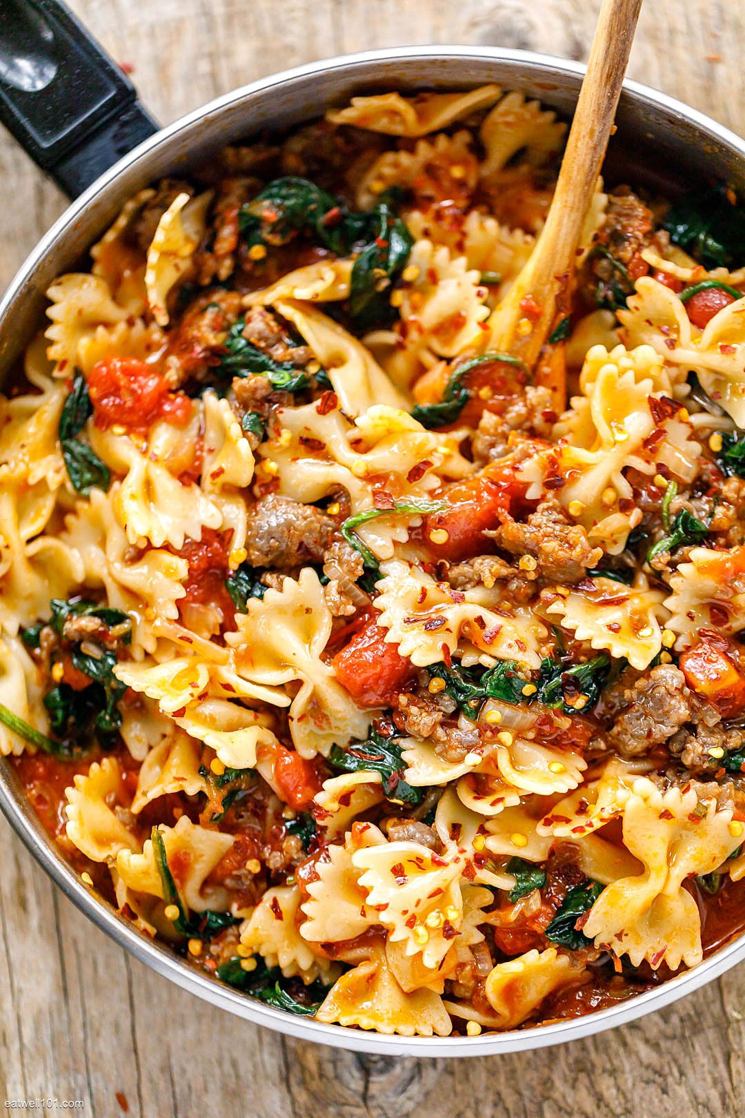 Photo of Tomato Spinach Sausage Pasta