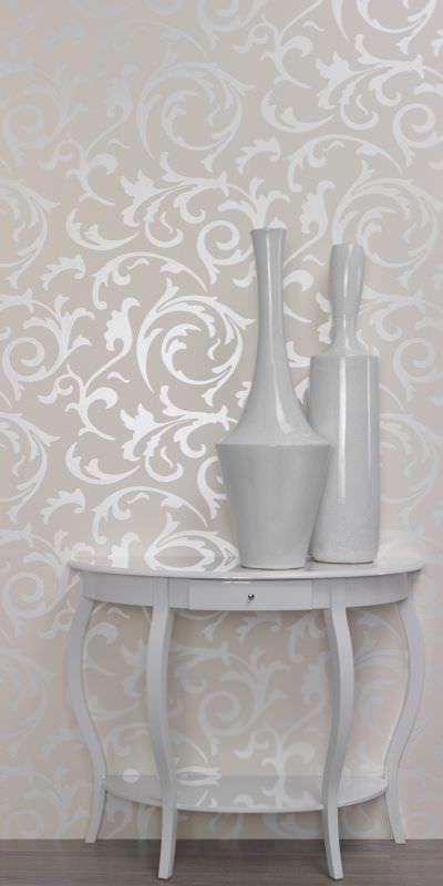 Papier Peint Baroque Twist Beige R1068 Walls Republic 3 Stencil En