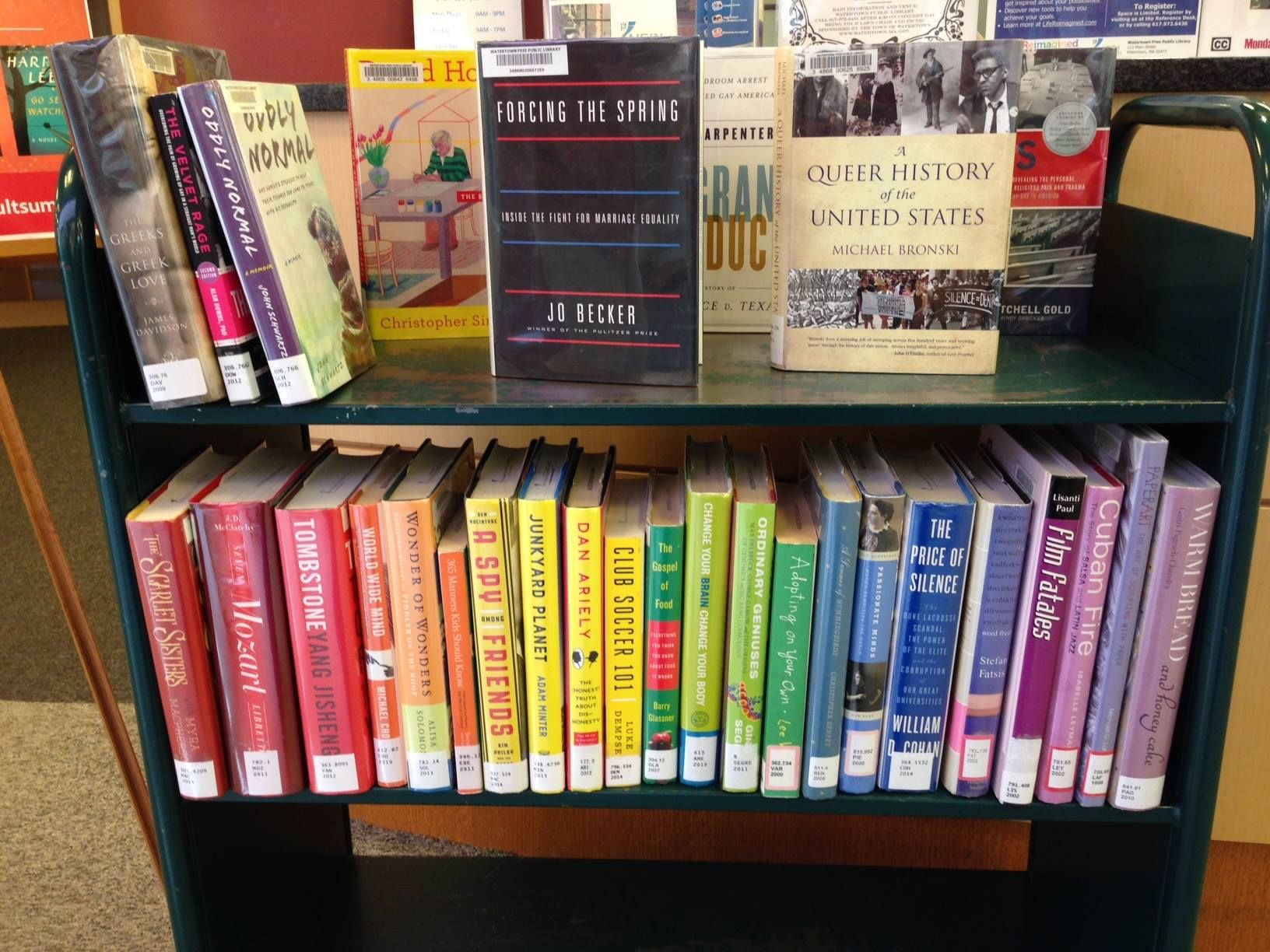 An LGBT Pride Month book display idea from the Watertown (MA) Free Public  Library