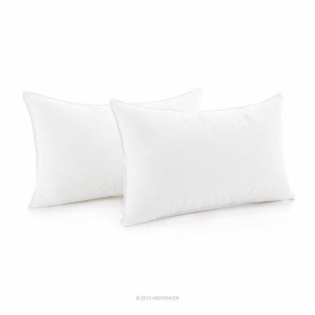 Weekender Down Alternative Pillow with Cotton Cover, Set of 2, White