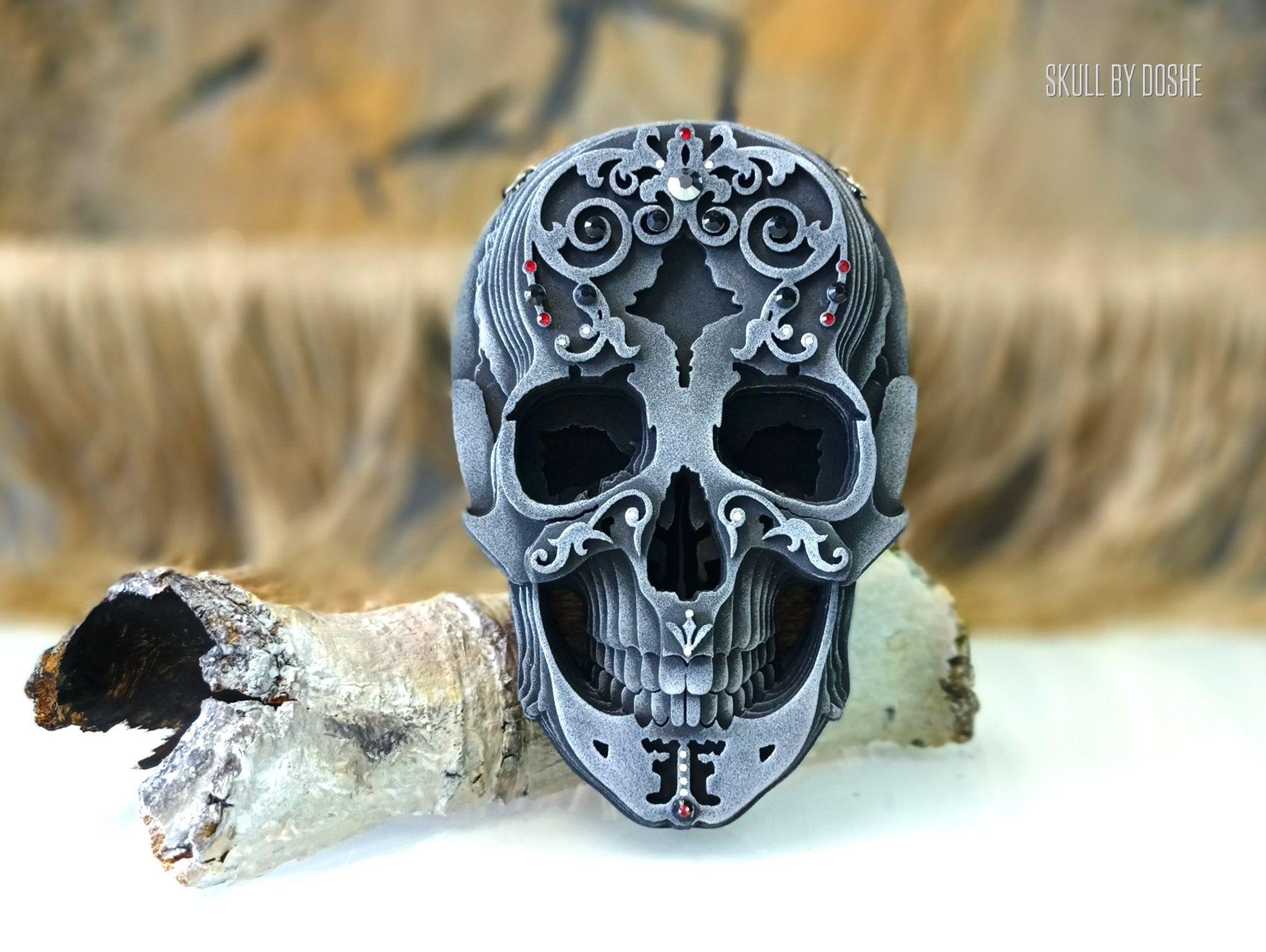HUMAN SKULL Replica  Halloween gifts  Car mirror charm  | Etsy