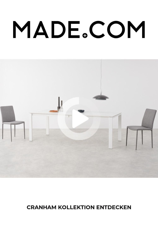 Made Dining Table Gray In 2020 Tisch Esstisch Ausziehbar Ausziehtisch