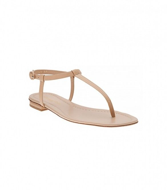56a6ee0d0c6 Barely-There Flat Sandals. A nude sandal with minimal straps or buckles  feels almost invisible