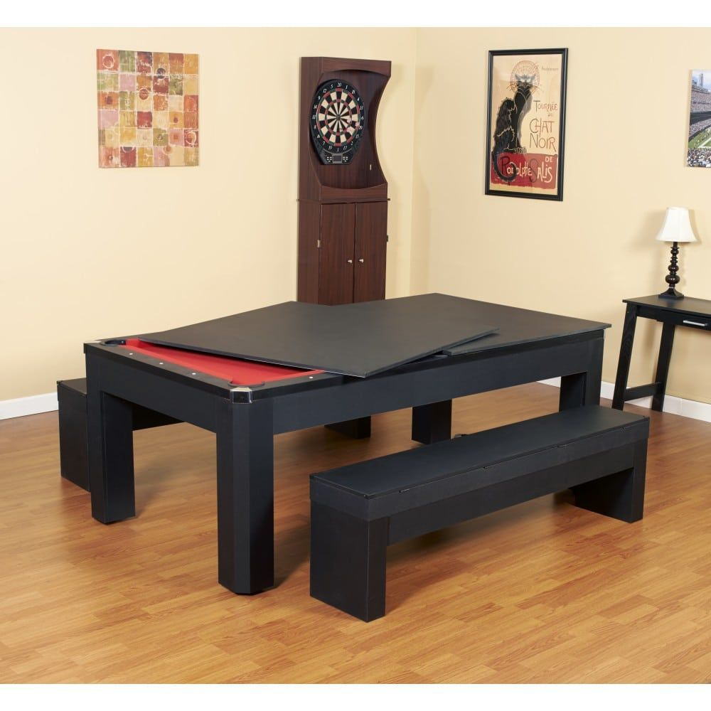 Excellent Park Avenue 7 Ft Pool Table Combo Set With Benches And Top Pabps2019 Chair Design Images Pabps2019Com