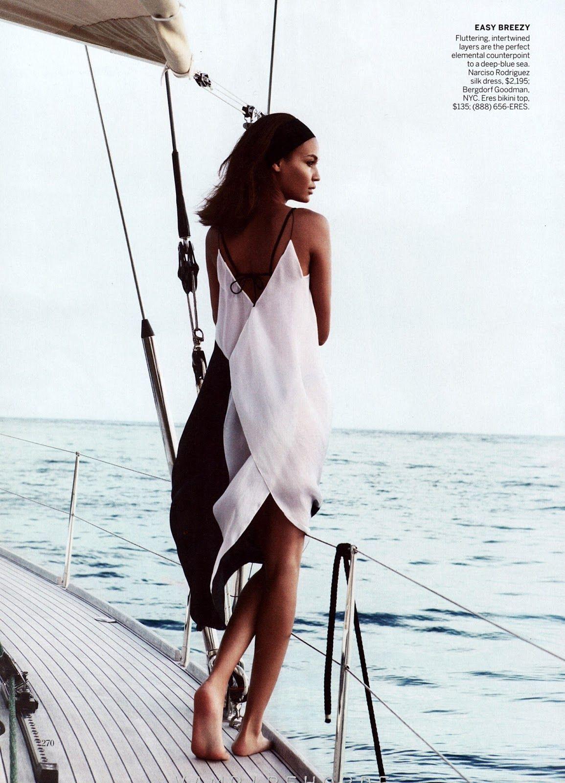 Joan Smalls Narciso Rodriguez Vogue April 2013.