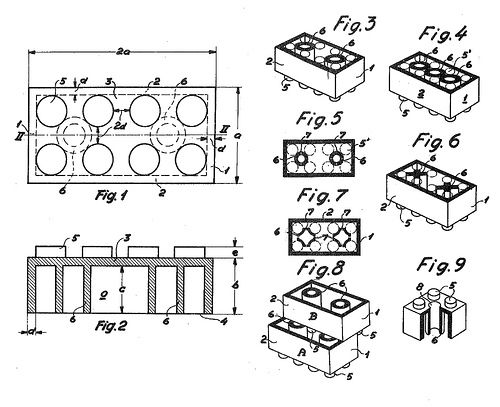 Illustration fra Legos patent, 1958 | photo library | Pinterest ...