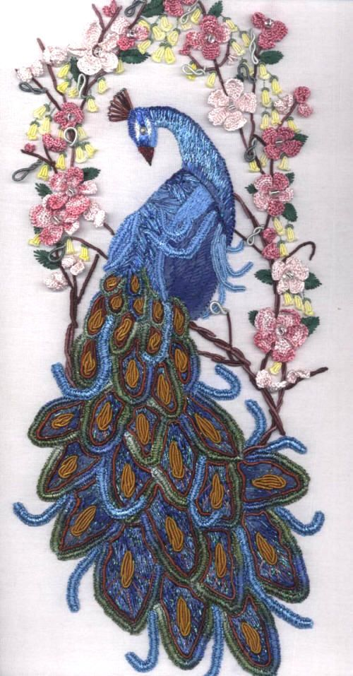 Embroidered Peacock JDR 6012  Hand Embroidery  Pinterest