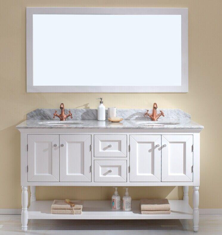 Genoa 1500 Bathroom Vanity Traditional Solid Wood Free Standing Double Cabinet